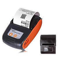 Мобильный термопринтер чеков для смартфона Goojprt PT-120 + чехол Оранжевый 100620 ZZ, КОД: 1855758