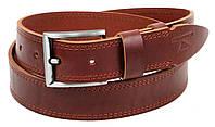 Ремень мужской из кожи под джинсы Skipper 3.8 см Коричневый 1305-38 ZZ, КОД: 1636660