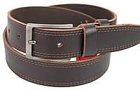 Ремень мужской из кожи под джинсы Skipper 3,8 см Коричневый 1114-38-2 FG, КОД: 2615738