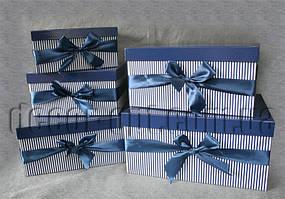 Коробки сине-полосатые 5 шт