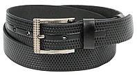 Ремень мужской из кожи под джинсы Skipper 3.8 см Черный 1293-38 TP, КОД: 1636648