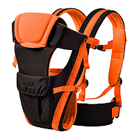Сумка-кенгуру SUNROZ BP-14 Baby Carrier рюкзак для переноски ребенка Черно-Оранжевый SUN0978 PP, КОД: 146371