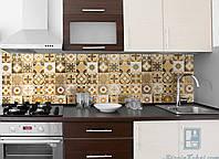 Кухонный фартук Zatarga Орнамент 01 600х2500 мм Бежевый Z180098 1 KB, КОД: 1833088