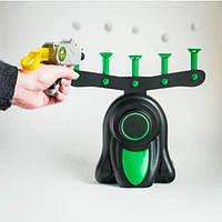 Воздушный тир Детская игра пистолет с дротиками и летающие мишени 1шт 0275 GL, КОД: 2463599
