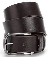 Ремень мужской GRANDE PELLE 00779 под джинсы Коричневый, Коричневый MN, КОД: 190189
