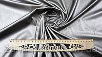 Ткань экокожа на меху цвет серебристо-бронзовый