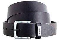 Ремень мужской из кожи под джинсы 3,5 см Mustang Черный MG2050L01 black SK, КОД: 2418120