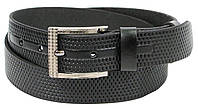 Ремень мужской из кожи под джинсы Skipper 3.8 см Черный 1293-38 KB, КОД: 1636648