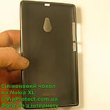 Nokia_XL, черный_силиконовый чехол, фото 4