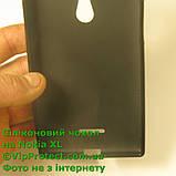 Nokia_XL, черный_силиконовый чехол, фото 5