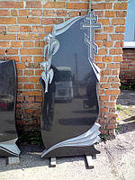 """Памятник из гранита """"Лилии с крестом"""""""