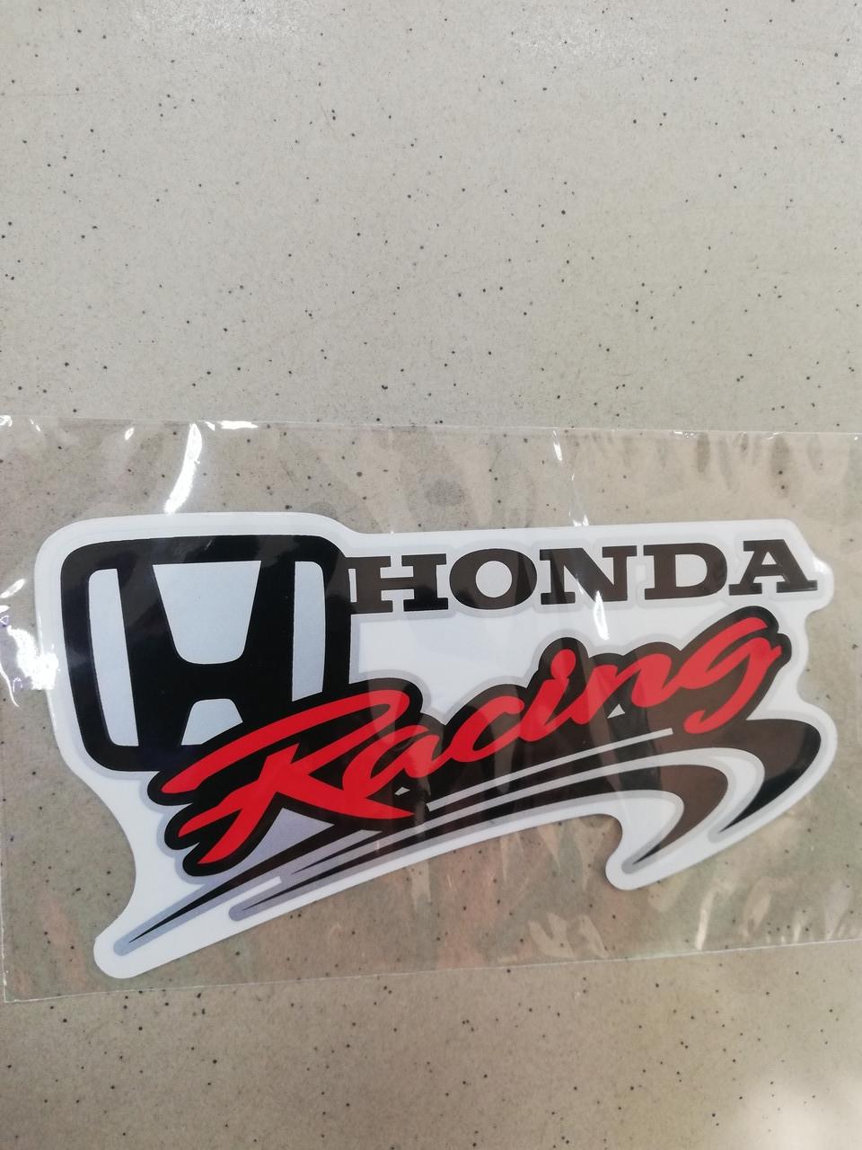 Вінілова наклейка HONDA RACING 15х8 см