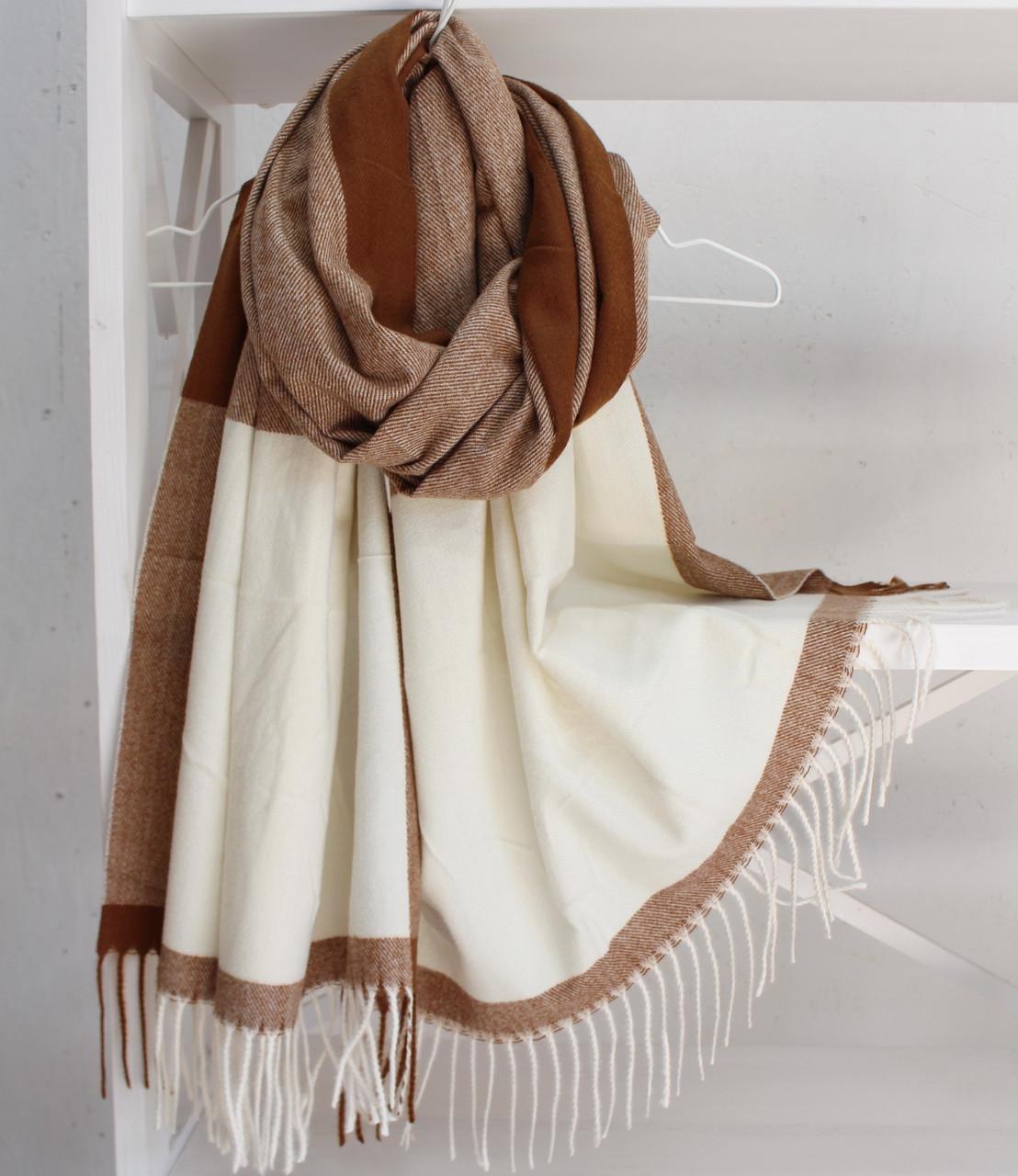"""Кашеміровий двосторонній шарф палантин """"Інеса"""" Cashmere 103006"""