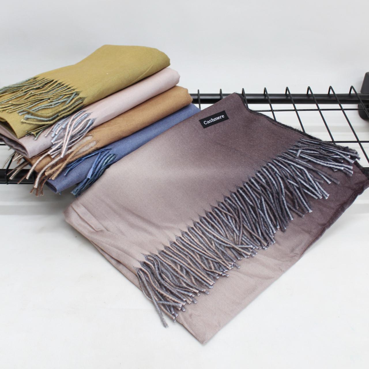 Кашемировый двухстонный шарф палантин Cashmere 106005