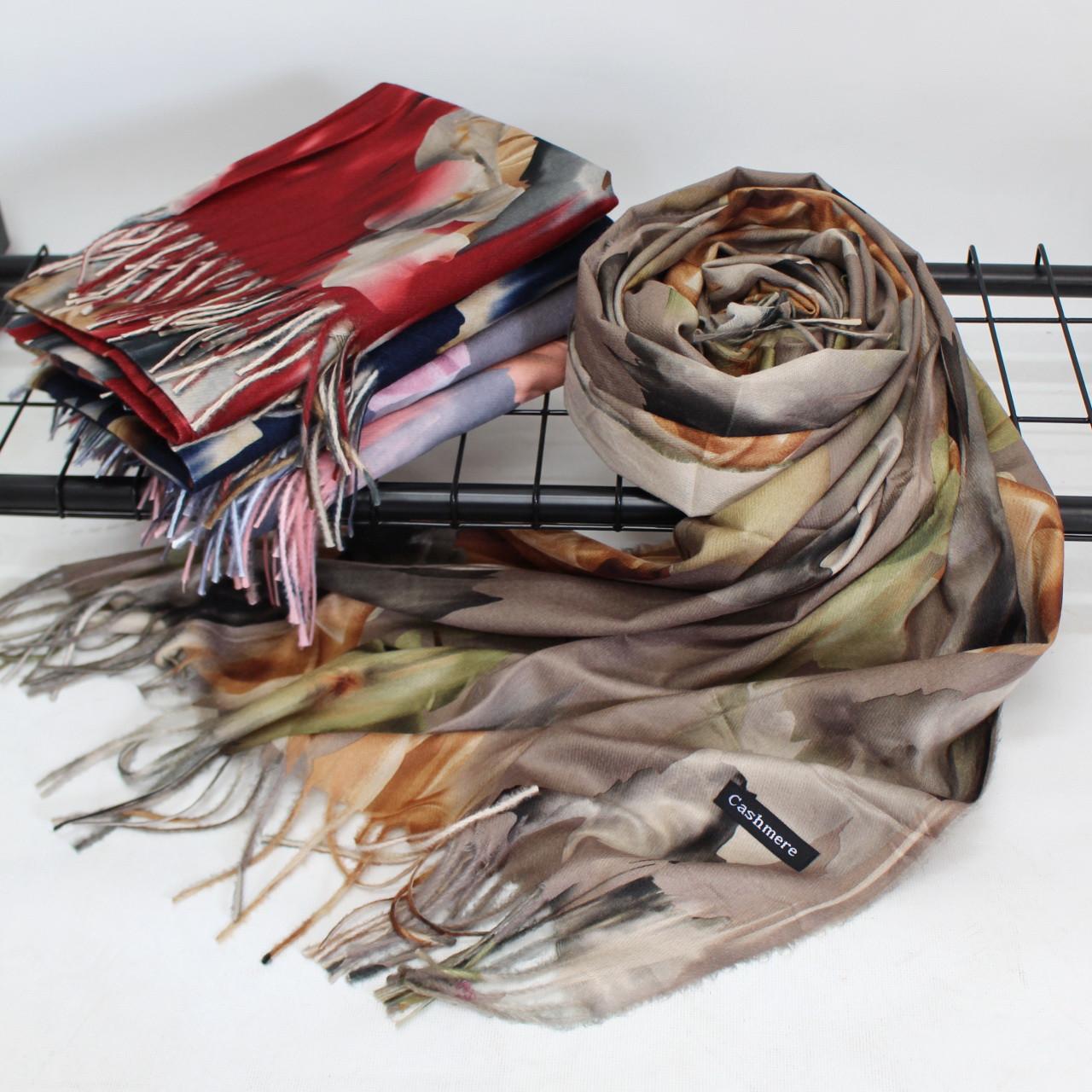 """Кашеміровий двосторонній шарф палантин """"Індіра"""" Cashmere 102005"""