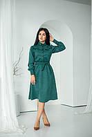 """Красивое платье, зеленое """"324"""". Размеры 44,46,48,50,52."""