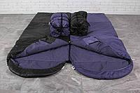 Туристический спальный мешок (до-2). Спальник туристический для похода весна и осень Двухспальный