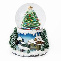 """Музыкальный снежный шар """"Снежная зима"""" 6016-008. Новогодний декор"""