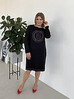 Идеальное платье в черном цвете,  укр разм   52 54 56 58., фото 1