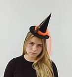 Шляпка відьми  на обручі до Хеловіну (Хеллоуїну)., фото 3