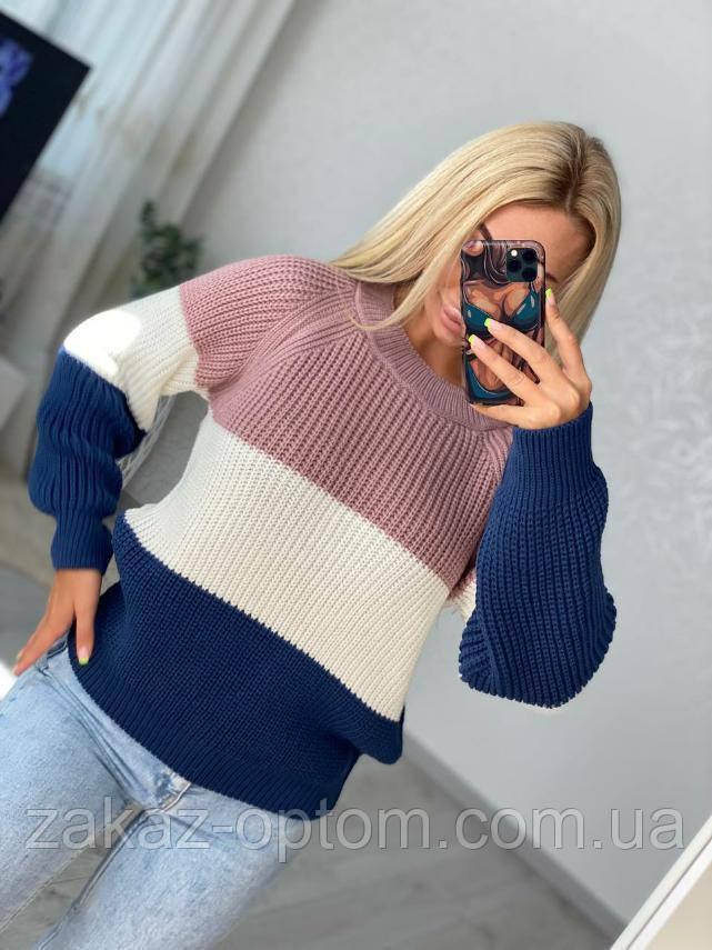 Светр жіночий шерсть, акрил оптом (44-50)Україна-82245