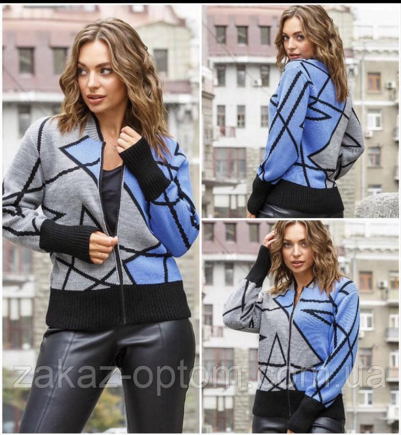 Кофта женская шерсть акрил оптом (44-50)Украина-82260