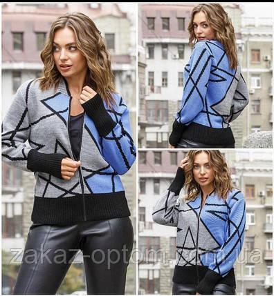 Кофта женская шерсть акрил оптом (44-50)Украина-82260, фото 2