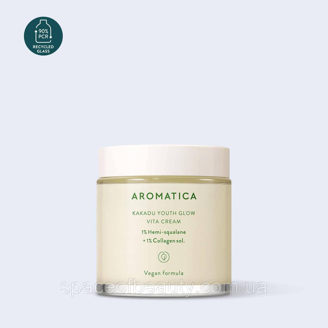 Крем ночной с гемискваланом 1% и коллагеном 1% Aromatica Kakadu Youth Glow Vita Cream 100 ml