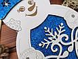 Подарункова коробка Сніговик з глітерною підложкою, фото 4