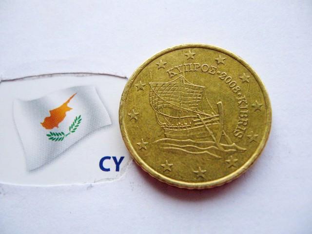 Евромонета 50 евроцентов Кипр 2008 год