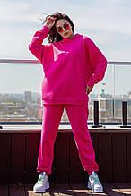 Женский теплый спортивный костюм на флисе разм S M L ХЛ, 2 цвета, (украина)