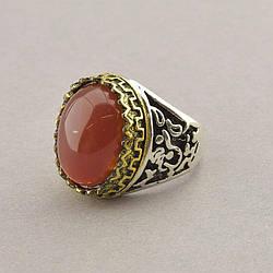 Кільце на палець Сердолік (Бижутерный сплав)