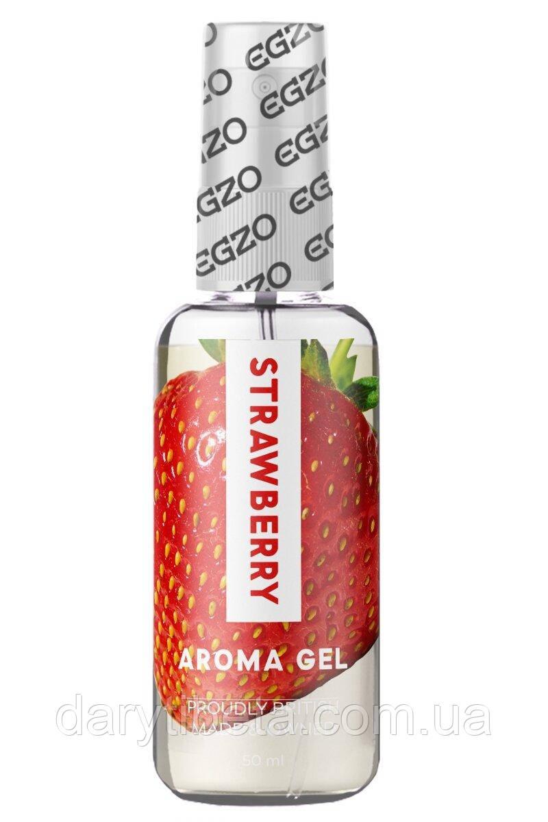 Оральний гель-лубрикант EGZO AROMA GEL - Strawberry, 50 мл
