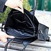 Ультра модная фактурная черная женская сумка - шоппер Регулируемый ремень на плечо, фото 7