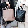 Ультра модная фактурная бежевая женская сумка - шоппер Регулируемый ремень на плечо, фото 5
