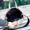 Ультра модная фактурная бежевая женская сумка - шоппер Регулируемый ремень на плечо, фото 7