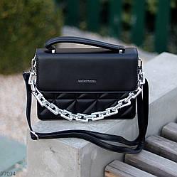 Неймовірно крута і стильна молодіжна чорна жіноча сумка клатч