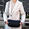 Яскрава зручна стильна чорна жіноча сумка клатч з декором, Регульований ремінь на плече, фото 2