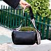 Яскрава зручна стильна чорна жіноча сумка клатч з декором, Регульований ремінь на плече, фото 3