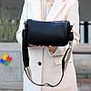 Яскрава зручна стильна чорна жіноча сумка клатч з декором, Регульований ремінь на плече, фото 6