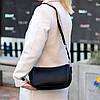 Яскрава зручна стильна чорна жіноча сумка клатч з декором, Регульований ремінь на плече, фото 7
