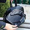 Городской черный Рюкзак на одно отделение Длинные ремешки регулируются, фото 4