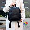 Городской черный Рюкзак на одно отделение Длинные ремешки регулируются, фото 7