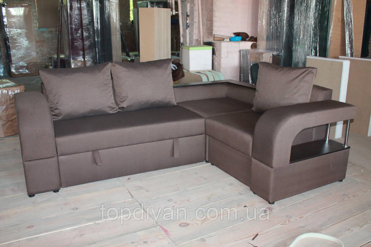 """Кутовий диван """"Шервуд"""" 2 бум (Палермо) Габарити: 2,55 х 1,87 Спальне місце: 1,90 х 1,40"""