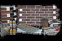 Клінкерна термопанель 1015*600*50 мм з клінкерною плиткою Червона рустикальна, Церрад, фото 3
