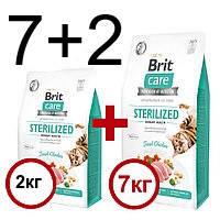 Brit Care (Брит Кеа) Cat  Sterilized Urinary Health для взрослых стерилизованных котов со свежей курицей 7+2кг