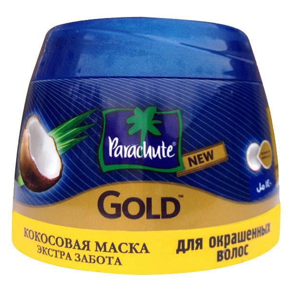 Кокосовый крем Parachute Gold для блеска волос с экстрактом Миндаля 140 мл