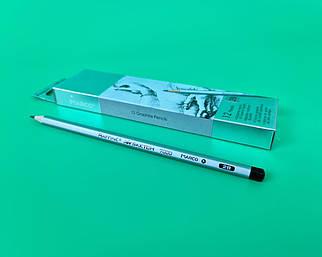 Олівець простий набір 12шт тм. Марко №7000-2B raffine (1 шт)