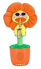 Портативна Bluetooth колонка Dancing Flower G26, Orange, Танцює і співає квітка Помаранчева, фото 2
