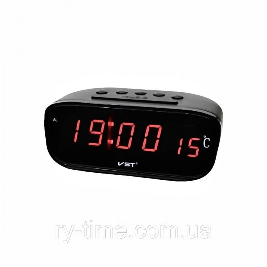 Электронный будильник от сети VST-803-1 (008443)